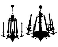 Luster Chandelier Vector 09. Beautiful Luster Chandelier Illustration Vector Royalty Free Stock Photography