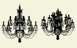 Luster Chandelier Vector 10 Stock Images