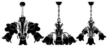 Luster Chandelier Vector 16 Stock Images