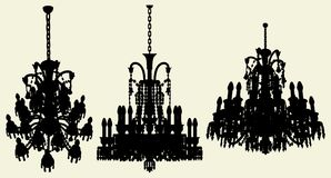 Luster Chandelier Vector 17 Stock Images