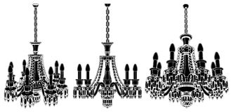 Luster Chandelier Vector 18 Royalty Free Stock Photos