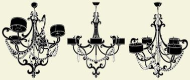 Luster Chandelier Vector 19 Royalty Free Stock Images