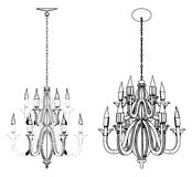 Luster Chandelier Vector 26 Royalty Free Stock Image