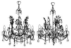 Luster Chandelier Vector 35 Stock Photo