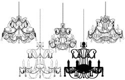 Luster Chandelier Vector 37 Royalty Free Stock Photo