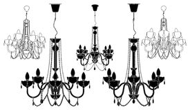 Luster Chandelier Vector 38 Royalty Free Stock Photography