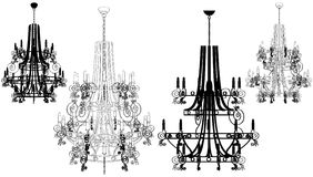 Luster Chandelier Vector 40 Stock Image