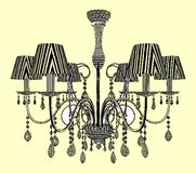 Luster Chandelier Vector Royalty Free Stock Photo