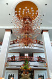 The luster at the lobby of luxury hotel. Pattaya, Thailand Royalty Free Stock Photography