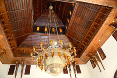 The luster at the lobby of luxury hotel, Sharm el Sheikh royalty free stock images