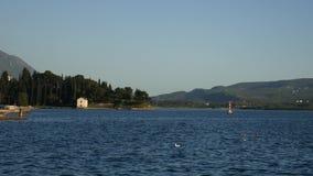 Lustica peninsula in Montenegro in seacoast stock video footage