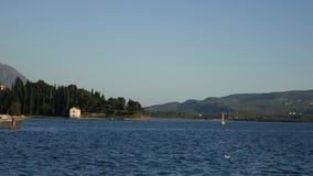 Lustica peninsula in Montenegro in seacoast stock footage