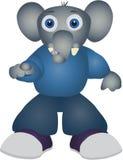lustige Abbildung des indischen Elefanten Lizenzfreie Stockfotografie