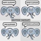 lustige Abbildung des indischen Elefanten Lizenzfreie Stockfotos