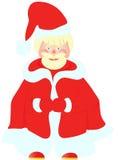 Lustige Abbildung von Weihnachtsmann Stockbilder