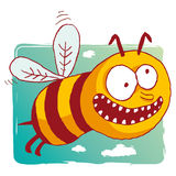 Lustige Biene Stockfotografie