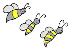 Lustige Biene des Gekritzels Lizenzfreie Stockfotos
