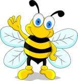 Lustige Bienen-Zeichentrickfilm-Figur Lizenzfreie Stockfotografie