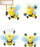 Lustige Bienenkarikatur Stockfoto