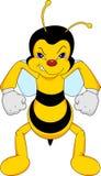 Lustige Bienenkarikatur Lizenzfreies Stockbild