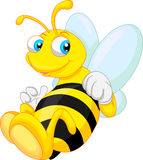 Lustige Bienenkarikatur Lizenzfreies Stockfoto