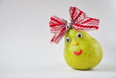Lustige Birne mit Augen Stockfotos