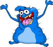 Lustige blaue Monsterkarikatur Lizenzfreies Stockbild