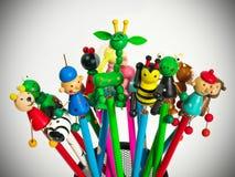 Lustige Bleistifte Lizenzfreies Stockfoto