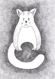 Lustige Bleistiftskizze einer Katze Lizenzfreies Stockbild