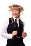 Lustige Blondine Lizenzfreies Stockfoto