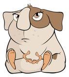 Lustige braune Meerschweinchenkarikatur Lizenzfreie Stockfotografie