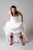 Lustige Braut Lizenzfreies Stockfoto