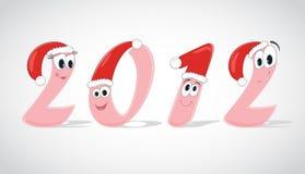 Lustige Digits des Jahres 2012 stock abbildung
