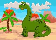 Lustige Dinosaurierkarikatur Stockbild