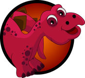 Lustige Dinosaurierkopfkarikatur Stockfoto