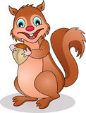 Lustige Eichhörnchenkarikatur Stockfoto