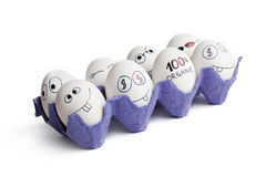 Lustige Eier Lizenzfreies Stockfoto