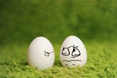 Lustige Eier Stockbild