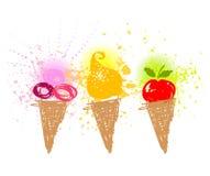 Lustige Eiscreme, Feiertag Stockbild