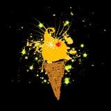 Lustige Eiscreme, Feiertag Lizenzfreie Stockfotos