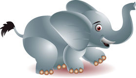 Lustige Elefantkarikatur Lizenzfreie Stockfotografie