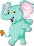 Lustige Elefantkarikatur Lizenzfreies Stockfoto