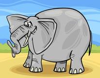 Lustige Elefantkarikaturabbildung Stockfotos