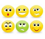 Lustige Emoticongesichter Stockfoto