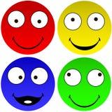 Lustige Emoticons Stock Abbildung