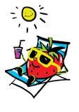 Lustige Erdbeere lizenzfreie abbildung