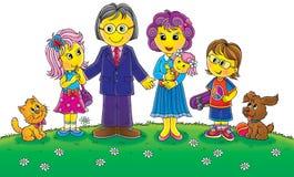 Lustige Familie vektor abbildung