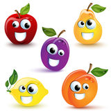 Lustige Früchte stock abbildung