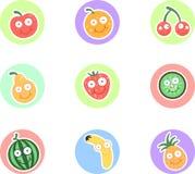 Lustige Früchte Lizenzfreie Stockfotos