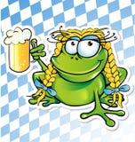 Lustige Froschkarikatur Stockfoto